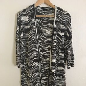 "H by Halston Sweater Duster-39"" Long (New)"